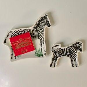 Ceramic Zebra 🦓 Trinket Tray Set by Paper Destiny